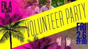 Welcome to Volunteer Party on June 2nd